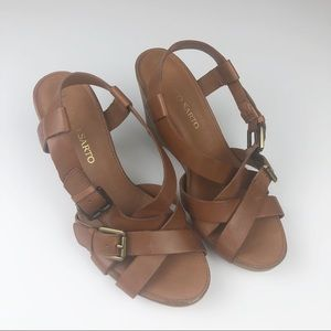 ⬇️FRANCO SARTO Sandal wedges with leather straps